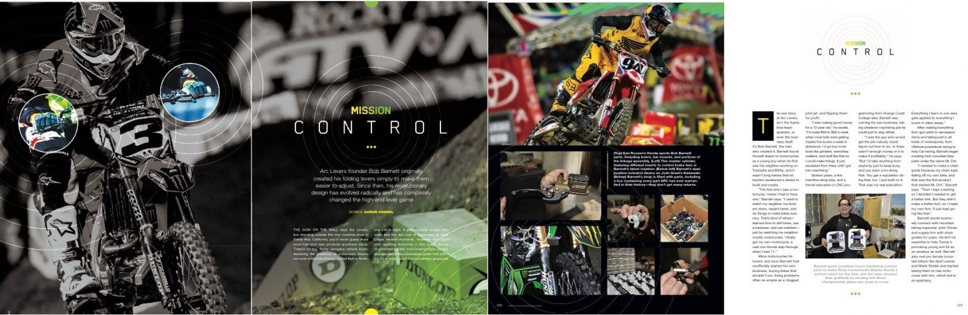 ARC FEATURE STORY IN RACER X MARCH ISSUE!