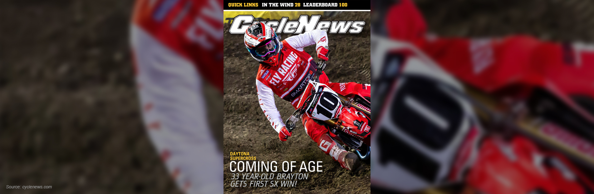 Featured in Cycle News Motorcycling Magazine Front Page